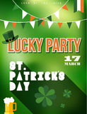 St Patricks day party poster illustration Stock Photos
