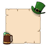 St Patricks day poster Royalty Free Stock Image