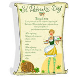 St. Patricks Day poster with sample text Royalty Free Stock Photography