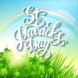 St. Patricks Day poster. Vector illustration. EPS 10 Royalty Free Stock Photography