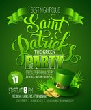 St. Patricks Day poster. Vector illustration Royalty Free Stock Photo