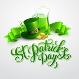 St. Patricks Day poster. Vector illustration. EPS 10 Royalty Free Stock Photos