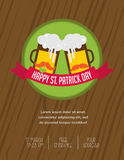 St. Patricks day pub and party invitation Stock Image