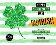 St. Patricks Day Pub Party Invitation template Stock Photo