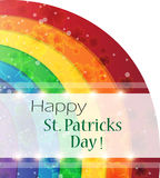 St. Patricks Day rainbow background Royalty Free Stock Images