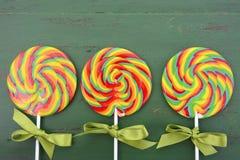 St Patricks Day Rainbow Lollipops Stock Photos