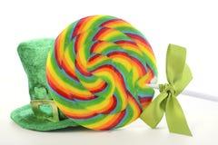 St Patricks Day Rainbow Lollipops Stock Photography