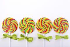 St Patricks Day Rainbow Lollipops Stock Photo