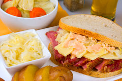 St Patricks Day Reuben Sandwich Stock Photos