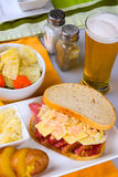 St Patricks Day Reuben Sandwich Stock Photography