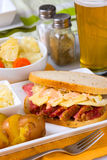 St Patricks Day Reuben Sandwich Royalty Free Stock Photography
