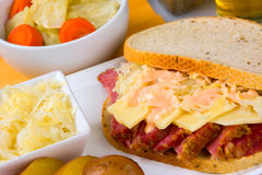 St Patricks Day Reuben Sandwich Royalty Free Stock Images