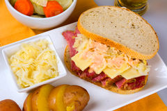 St Patricks Day Reuben Sandwich Stock Photo