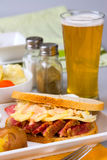 St Patricks Day Reuben Sandwich Royalty Free Stock Photo
