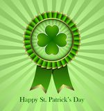 St. Patricks Day Rosette Ribbon Stock Photos