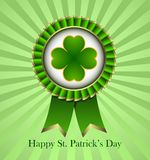 St. Patricks Day Rosette Ribbon Stock Images
