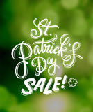 St patricks day sale advertisement vector Stock Images