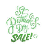St patricks day sale advertisement vector Royalty Free Stock Photography