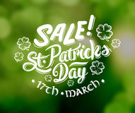 St patricks day sale advertisement vector Royalty Free Stock Photos
