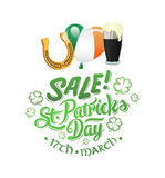 St patricks day sale advertisement vector Stock Photo