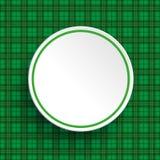 St Patricks Day Sale Circle Hat Tartan Stock Photography