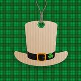 St Patricks Day Sale Price Sticker Hat Tartan Stock Photos