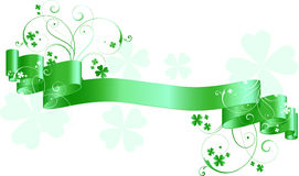 St patricks day scroll Royalty Free Stock Photo