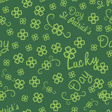 St. Patricks day seamless background for  gift Stock Photo