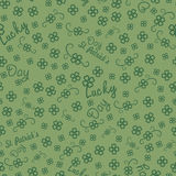 St. Patricks day seamless background for  gift Royalty Free Stock Photo