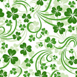 Vector seamless background with shamrock. Royalty Free Stock Photography