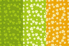 St.Patricks Day Seamless Backgrounds Set Stock Photography