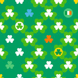 St. Patrick's Day seamless pattern Royalty Free Stock Photo