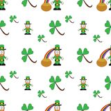 St Patricks Day seamless pattern stock image