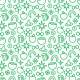 St. Patricks Day Seamless Pattern Royalty Free Stock Images