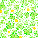 St. Patricks Day seamless pattern Stock Photo