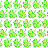 St. Patricks Day seamless pattern. St. Patricks Day holiday seamless pattern. Clover leaf texture. Spring background Stock Photography