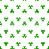 St patricks day seamless pattern. Shamrock, green clover with three leaves. St Patricks Day seamless pattern. Vector tileable design element. Saint Patrick used Royalty Free Stock Photo