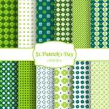St Patricks day seamless patterns Stock Photo