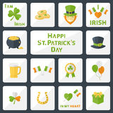 St. Patricks Day set Royalty Free Stock Photos