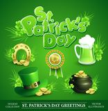 St. Patricks Day Set of vector illustrations. St. Patricks Day Set of vector design element Stock Image