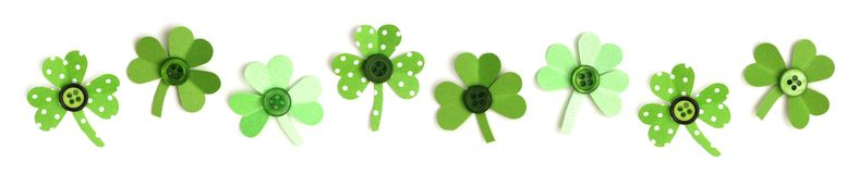 St Patricks Day shamrock border Royalty Free Stock Photography
