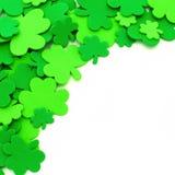 St Patricks Day shamrock border royalty free stock photo