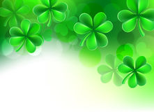 St Patricks Day Shamrock Clover Background. A St Patricks day shamrock clover green background illustration fading to white vector illustration