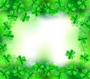 Shamrock Clover Leaves Sign Background. A St Patricks Day shamrock clover leaves background sign royalty free illustration