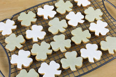 Shamrock Cookies Royalty Free Stock Photography