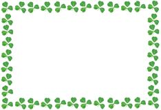 St Patricks Day shamrock frame Stock Photos
