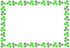 St Patricks Day shamrock frame Royalty Free Stock Image