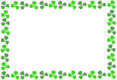 St Patricks Day shamrock frame. Over a white background Royalty Free Stock Image
