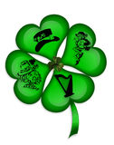 St Patricks Day Shamrock  graphic Stock Image