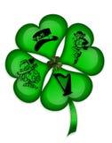 St Patricks Day Shamrock graphic royalty free illustration
